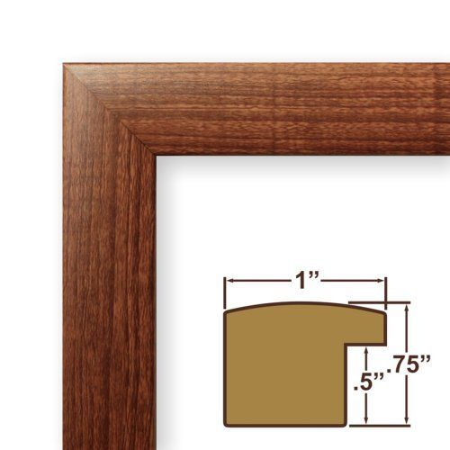 12x16 Picture / Poster Frame, Smooth Wood Grain Finish, 1\