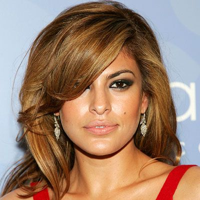Eva Mendes Changing Looks Eva Mendes Hair Hair Color Caramel Eva Mendes