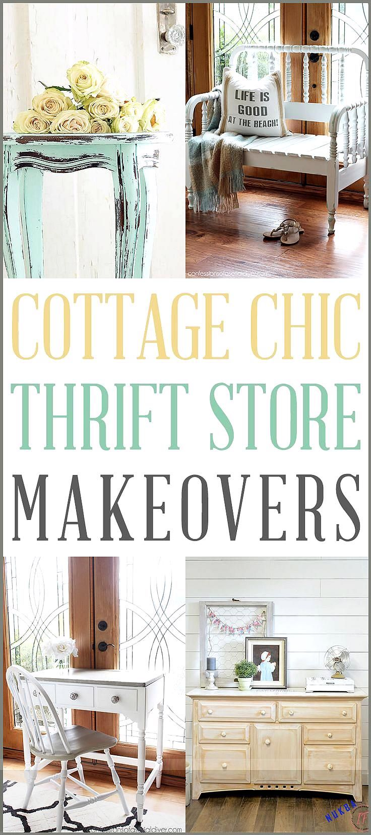 Cottage Chic Farmhouse Thrift Store Makeovers - The Cottage Market