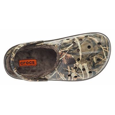 123c00bb135dee ... Shoes for Men. Men s Lined Camo Crocs Clogs Dasher Realtree Fuzz New