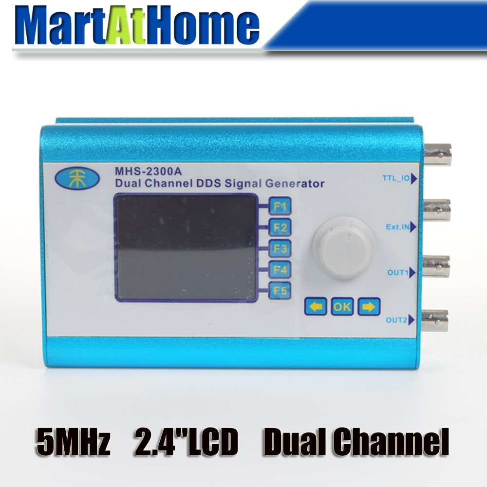 """86.90$  Buy here - http://alieku.worldwells.pw/go.php?t=32624160143 - """"5MHz 2.4""""""""LCD Wave DDS Function Signal Generator Dual Channel Arbitrary Waveform #BV292 @SD"""""""