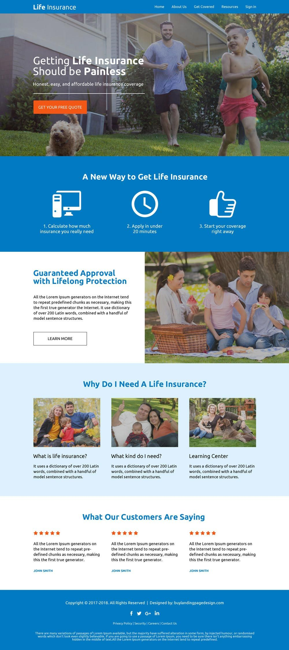 Download Responsive Life Insurance Company Free Quote Lead