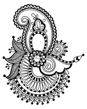 Stock Vector In 2019 Paisley Coloring Pages Paisley