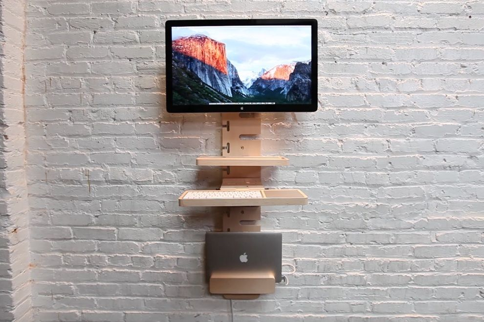 Standcrafted Wall Mounted Standing Desk Bonjourlife Wall Mounted Desk Minimalist Chair Standing Desk Options