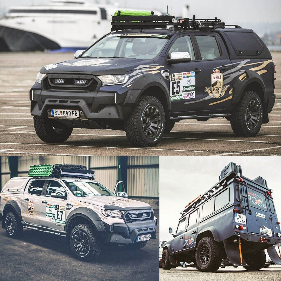 ford ranger e land rover defender de imprensa prontos para o rally dakar 2017 na foto ve culos. Black Bedroom Furniture Sets. Home Design Ideas