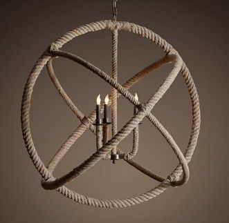 Warehouse of Tiffany's Rope Enclosed 3 light Chandelier