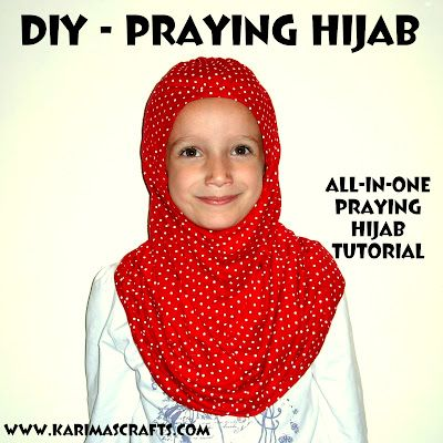 cute! diy praying hijab sewing tutorial - make one for your child ...