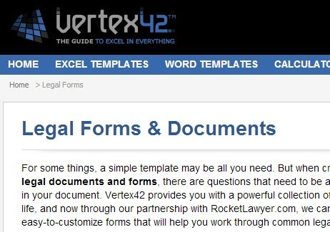 Legal Forms  Docs   wwwvertex42/forms/legal-formshtml