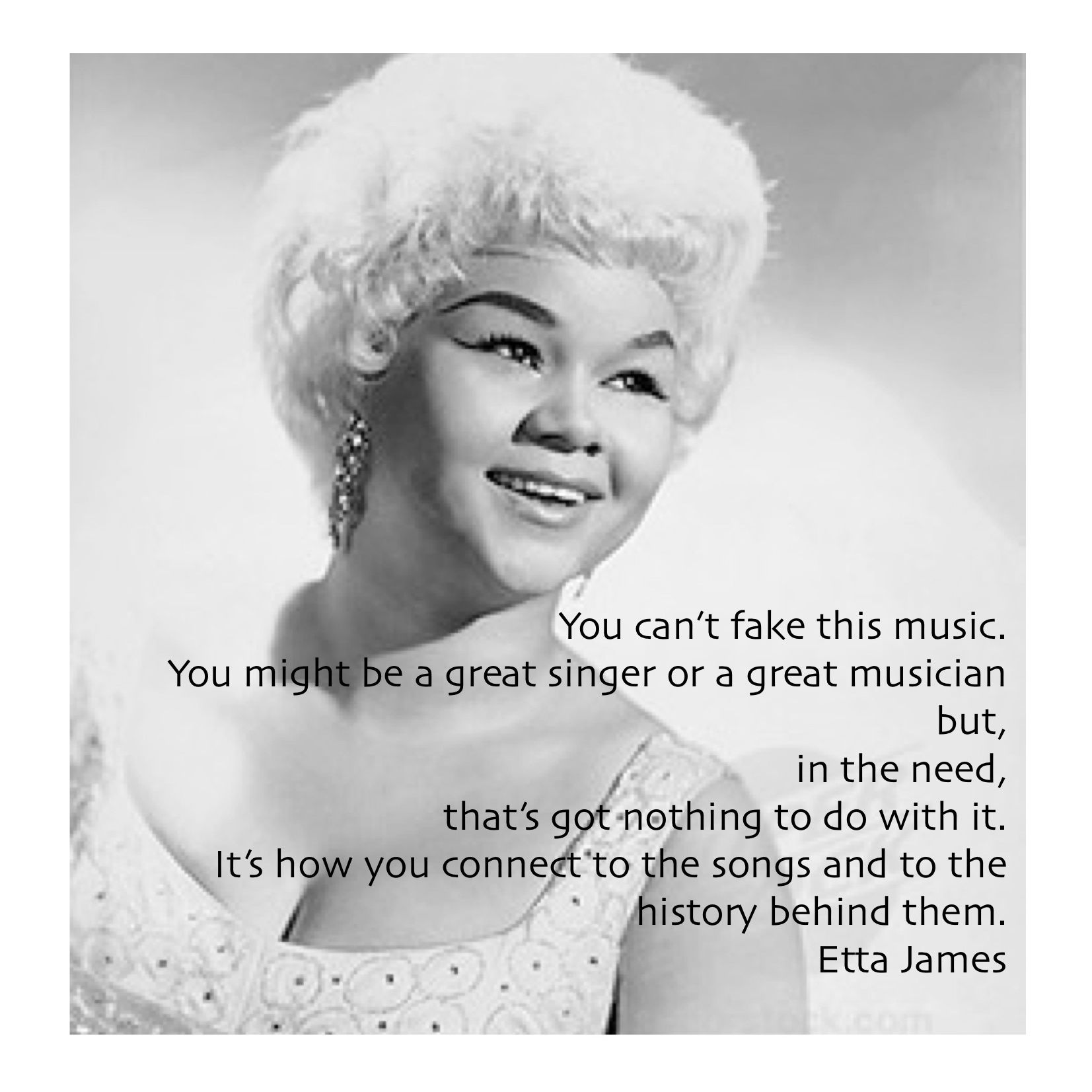 Miss Etta James Quote About Singing Pin Made By Vintage Soul Band MISSTRI Debora Hulskamp