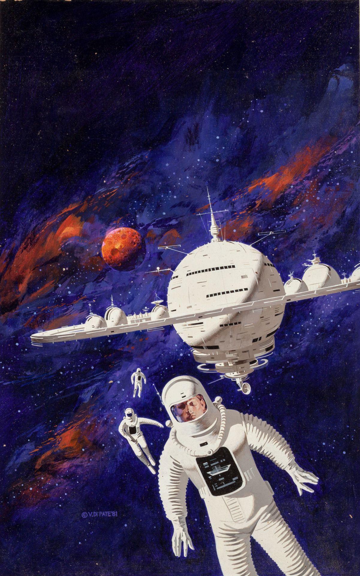 Classic Sci Fi Art Post Science Fiction Illustration Science Fiction Art Sci Fi Art