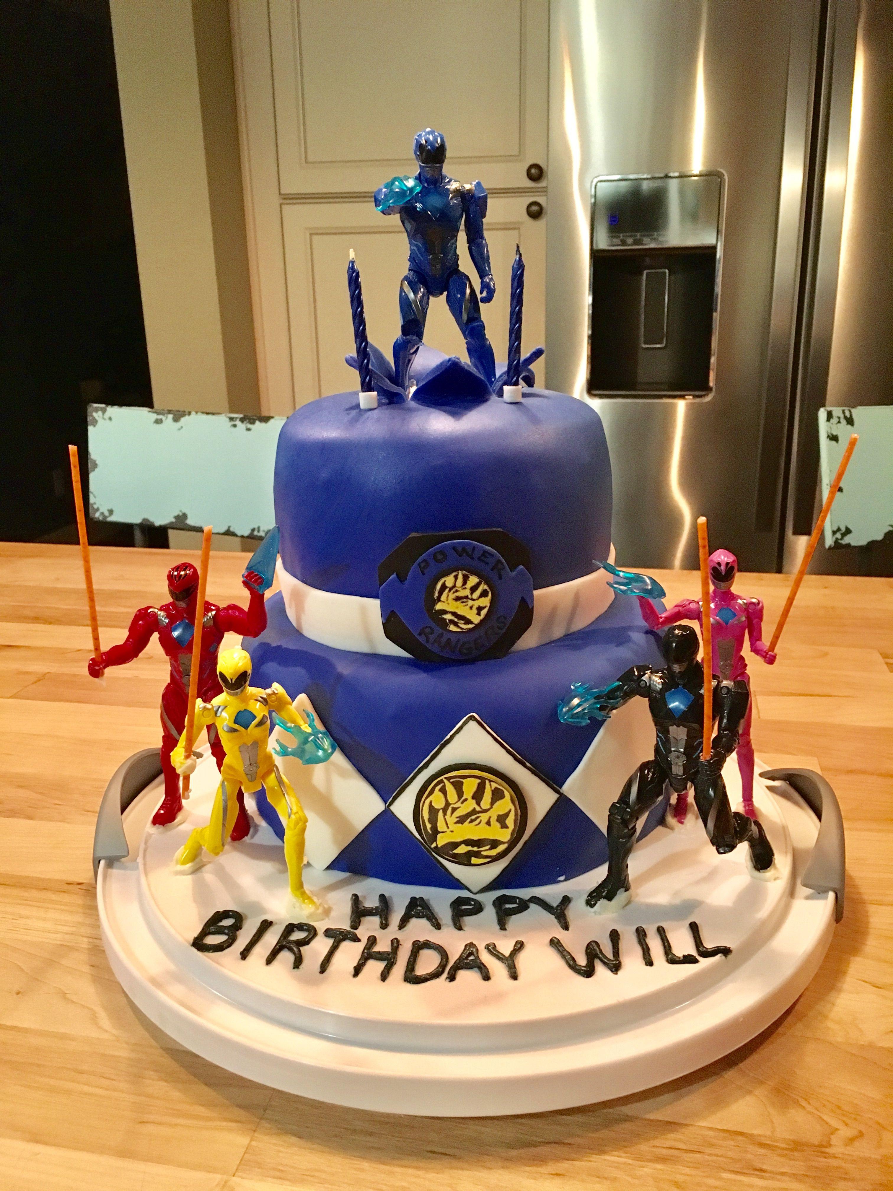 Incredible Power Rangers Cake With Images Power Rangers Birthday Cake Personalised Birthday Cards Veneteletsinfo