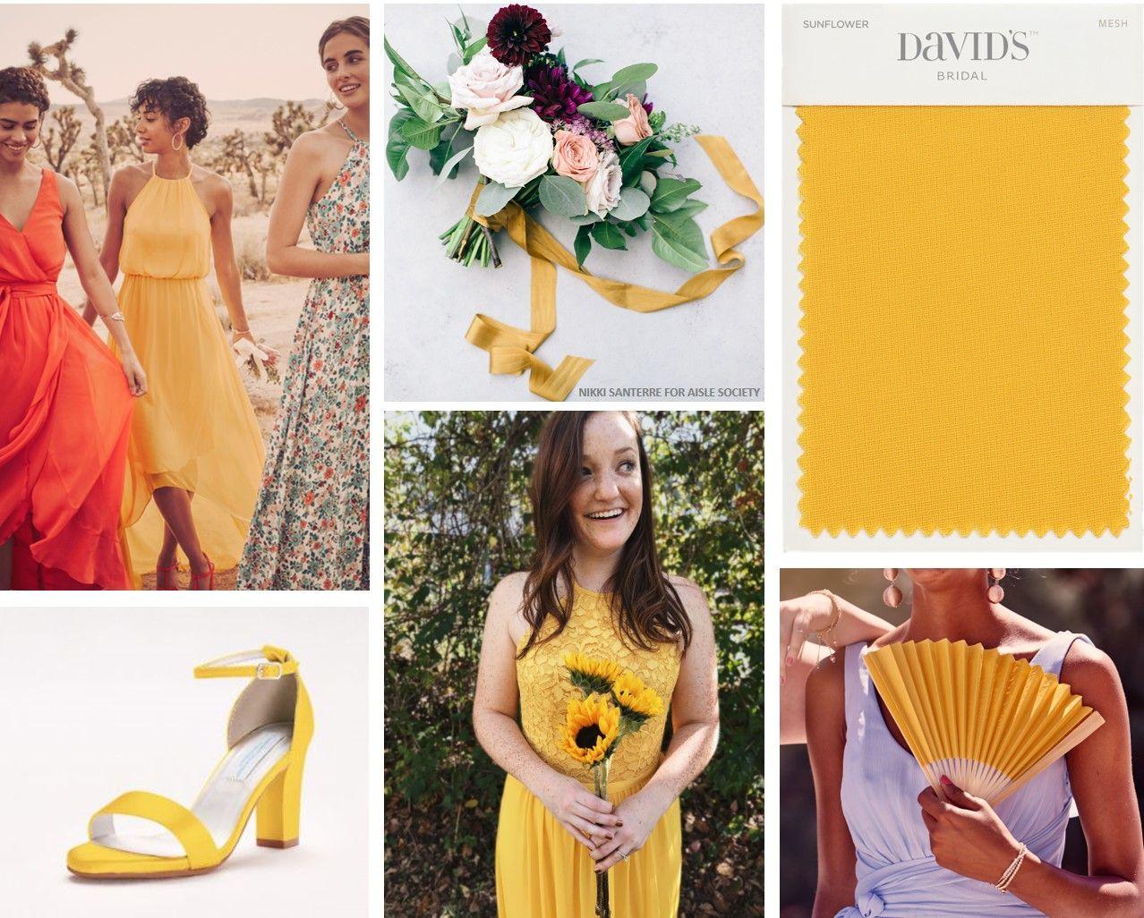 New Color Alert Sunflower David S Bridal Blog Yellow Bridesmaid Dresses Davids Bridal Bridesmaid Dresses Bridesmaid Dress Colors [ 1026 x 1278 Pixel ]