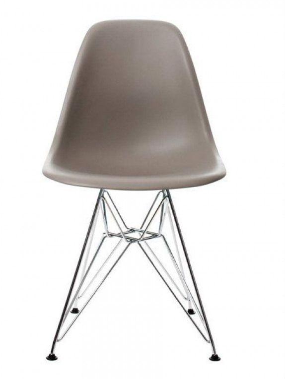 Vitra-DSR-Eames-Plastic-Side-Chair-mauve-grey-Chrome #eames #eames ...