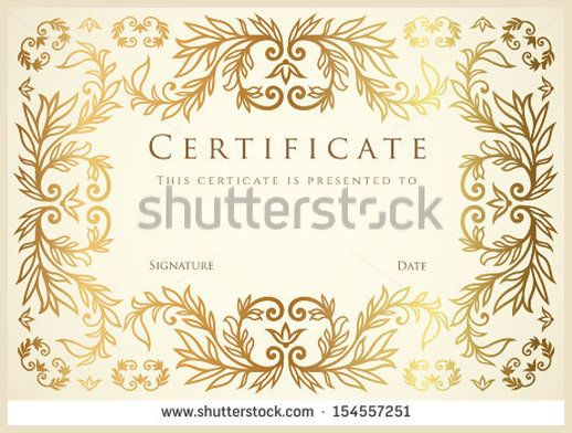 Certificate, Diploma of completion design template, background - certificate winner