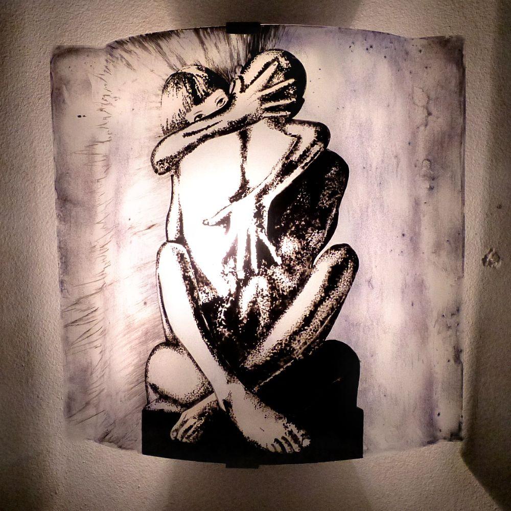 EnlacéLuminaire Peinture Romantique Murale Applique Couple Sur TFJ1Kc3l