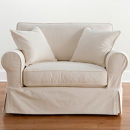 Jcpenney Com Friday Twill Slipcover Chair And A Half