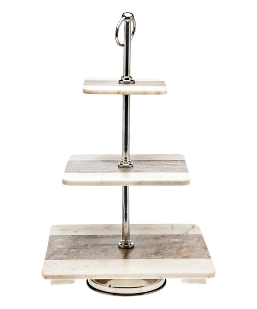 Look at this Marble Three-Tier Serving Platter on #zulily today!