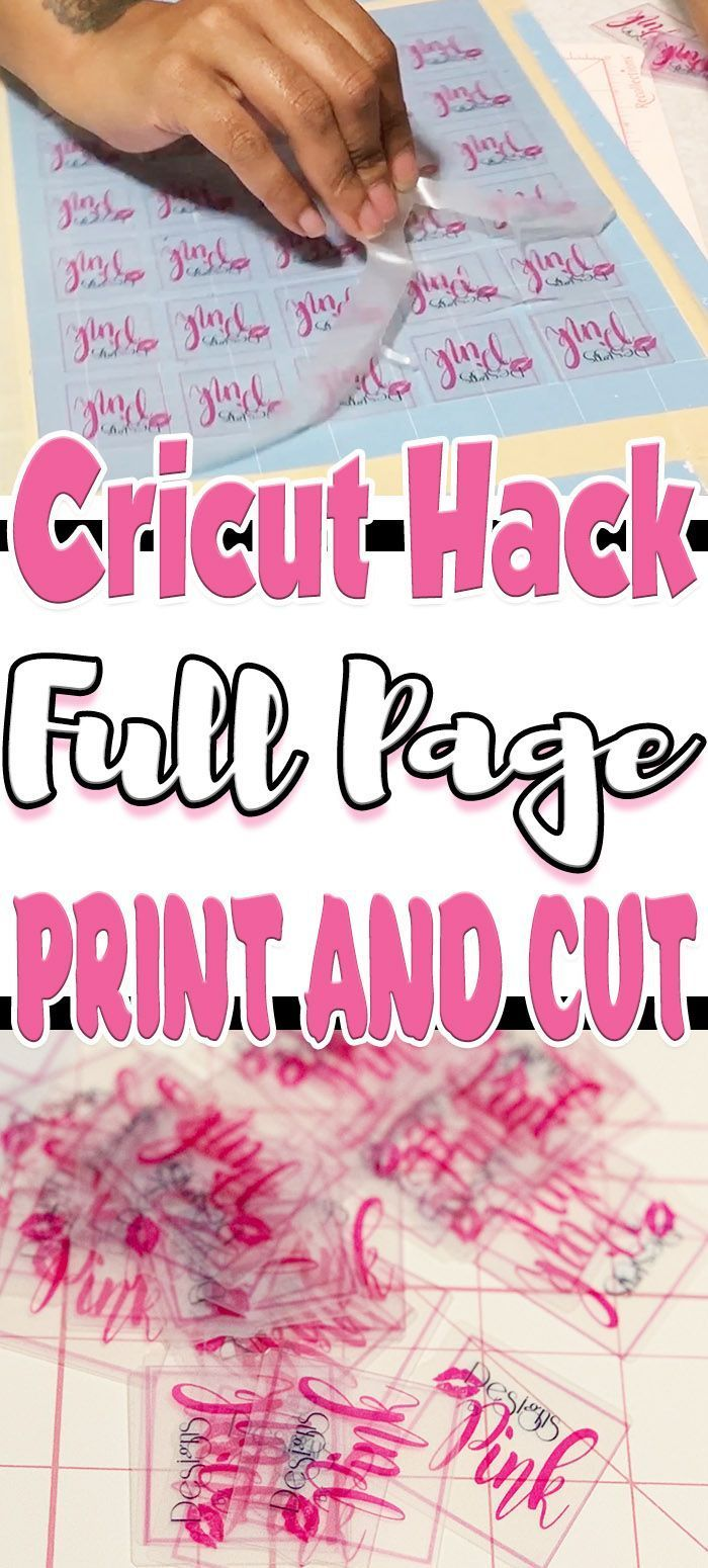 How To Do A Full Page Cricut Print and Cut *Hack*