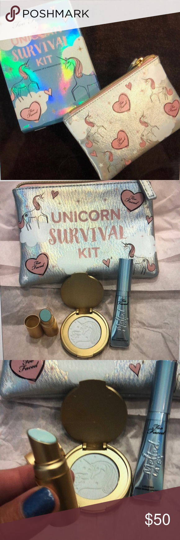 Too Faced Unicorn Survival Kit NWT Clothes design