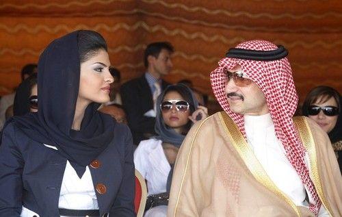 #Saudi #Arabia King Family Member Prince Alwaleed bin Talal Alsaud and Princess Amira