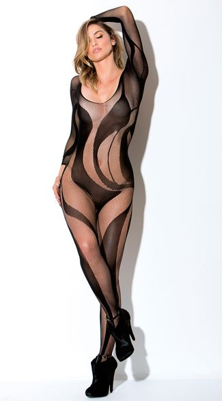 005a1c926b9 Flaunt your killer curves in this sexy black bodystocking featuring ...