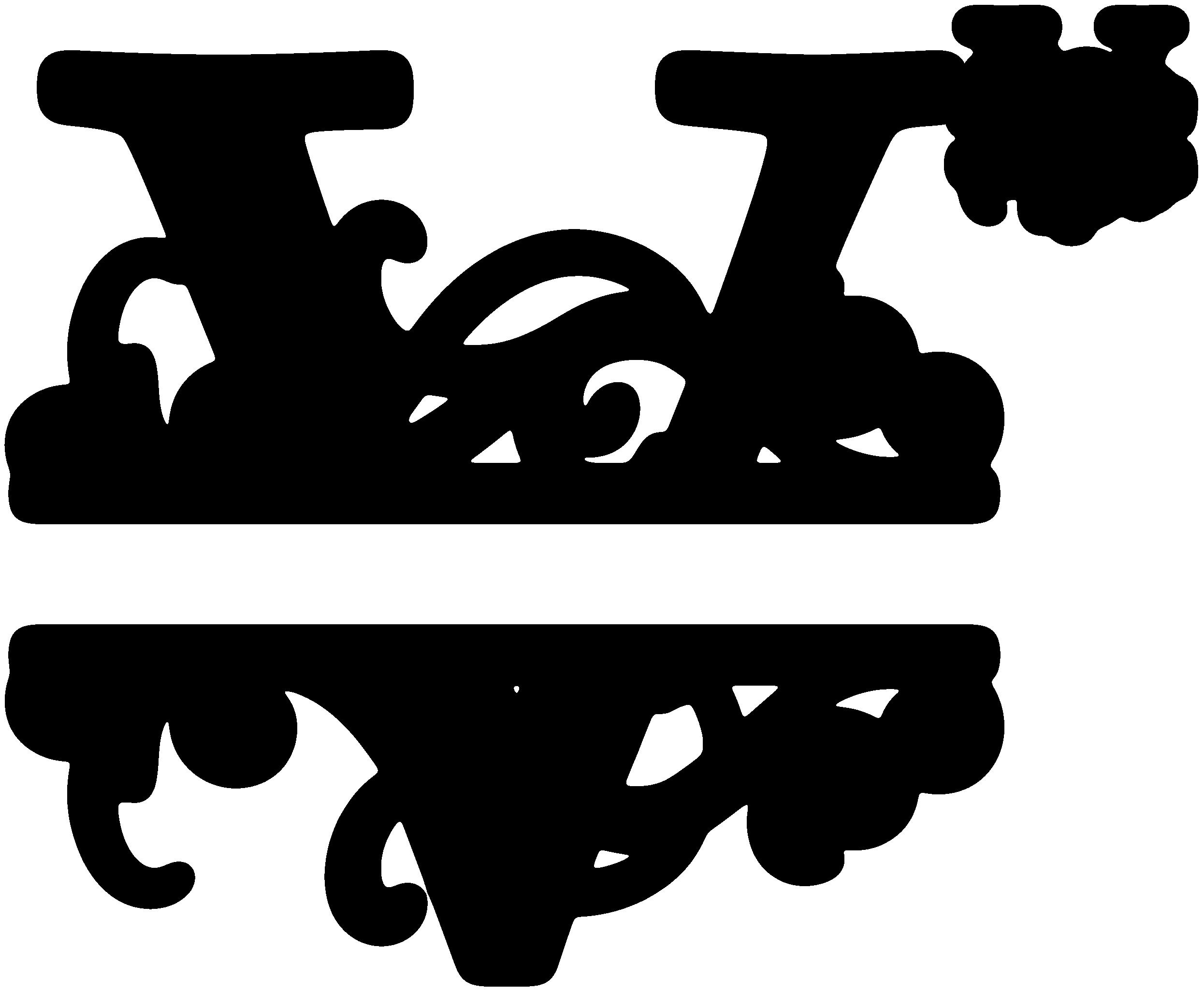 V Split Monogram