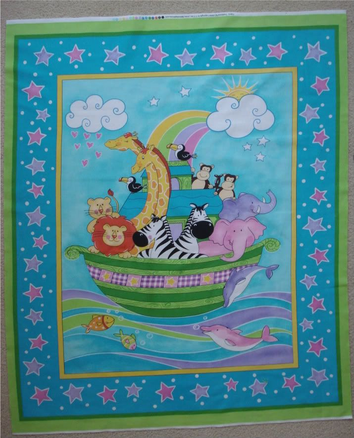 New baby quilt panel girl quilt square sew on patch nursery fabric panel floral fabric patch