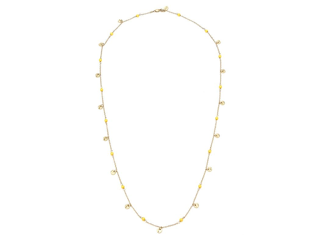 Gold Chain and Bead Necklace by Flying Lizard from Ali Fedotowsky on OpenSky