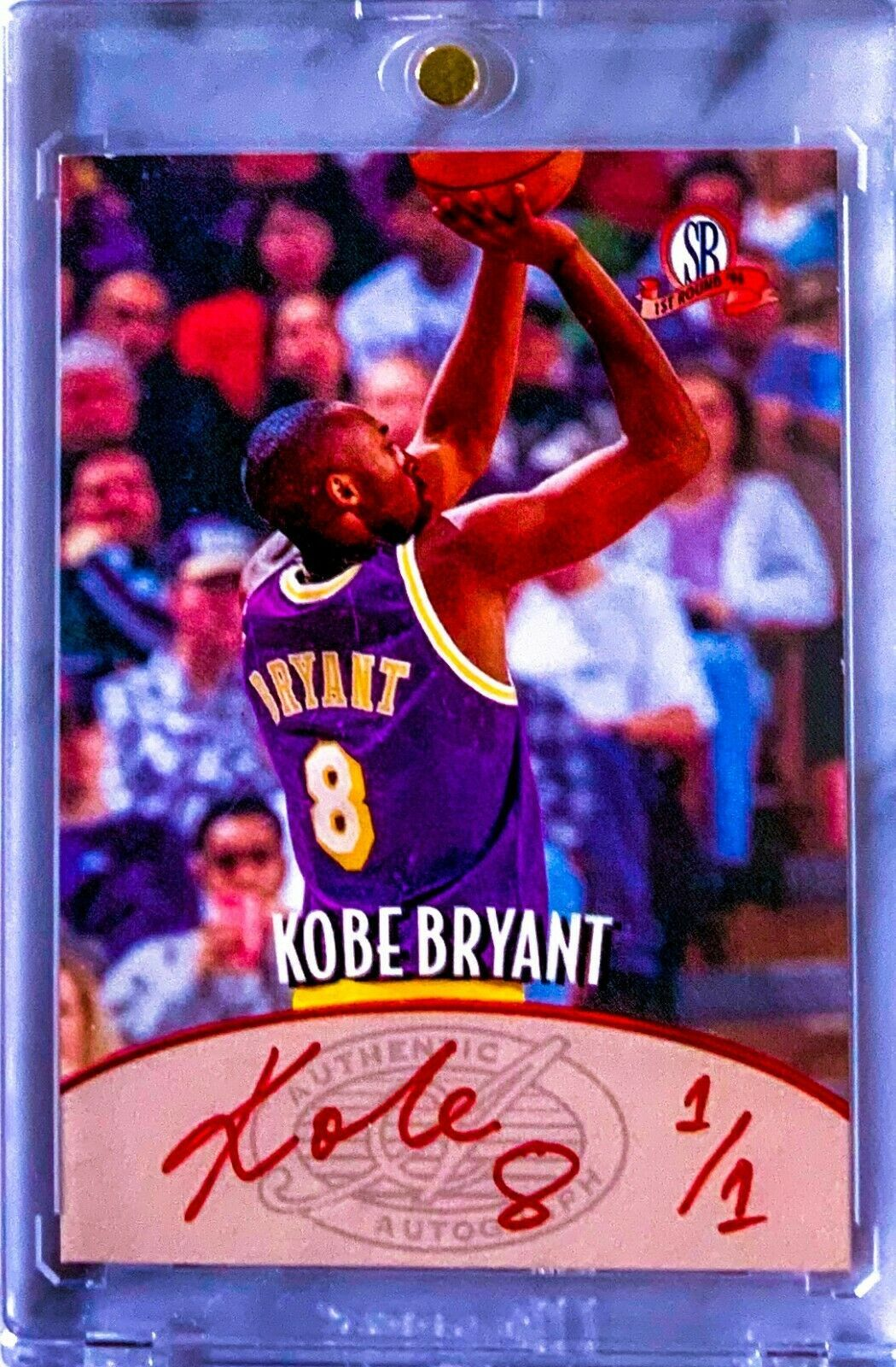 199697 kobe bryant score board 1st round rookie rc red on