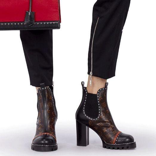 Louis Vuitton High Heel Autumn Winter Boyish Ankle Boots 4 Louis Vuitton High Heels Boots Louis Vuitton