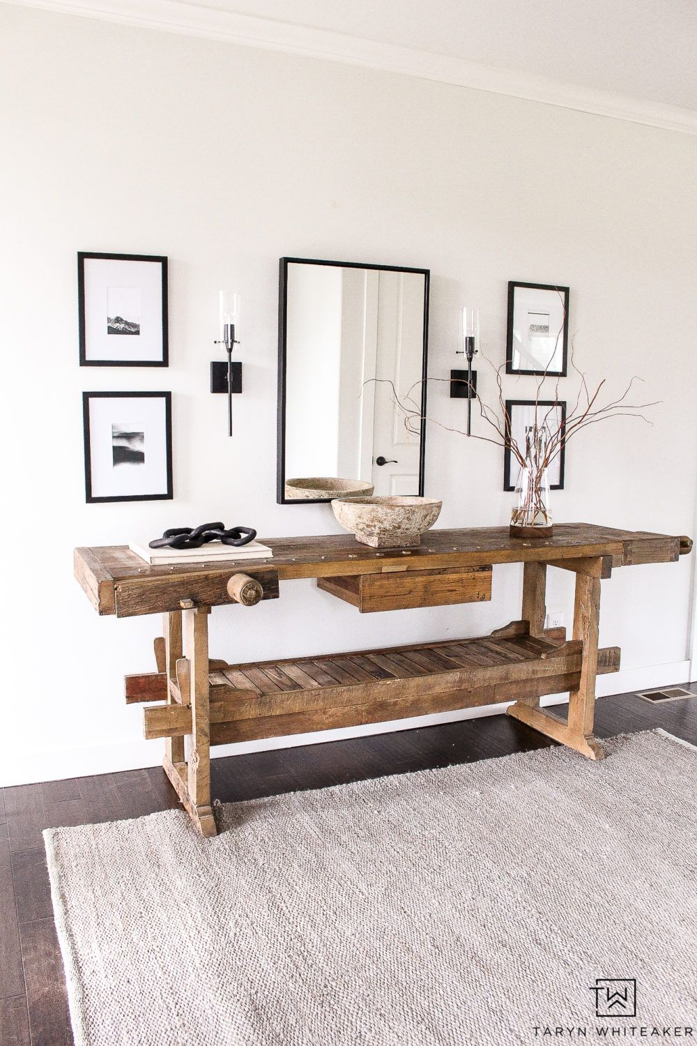 Restoration Hardware Inspired Entry Way - Taryn Whiteaker