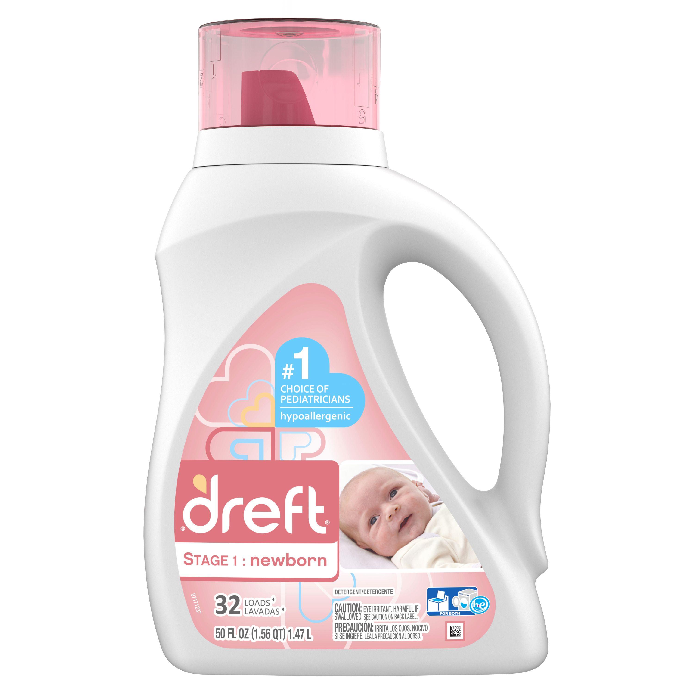 Dreft Stage 1 Newborn Baby Liquid Laundry Detergent 32 Loads 50