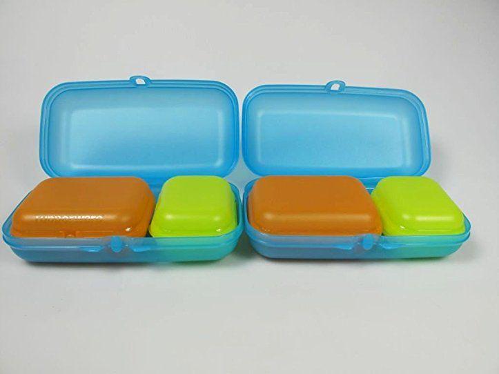 TUPPERWARE Maxi-Twin blau(2)+ Twin (2) limette Gr1+Twin orange (2 - dunkelblaue kche
