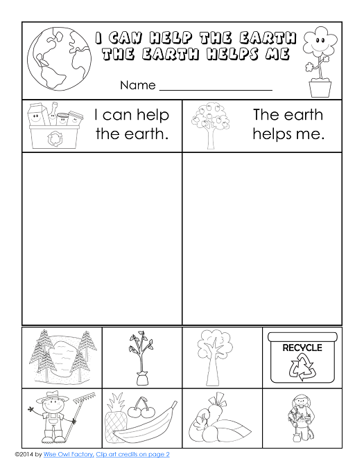 Free Earth Day Printable For K 1 Slp Earth Day Freebies