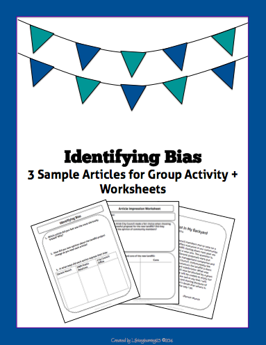 Identifying Bias: Article Comparison Group Activity | Reading ...
