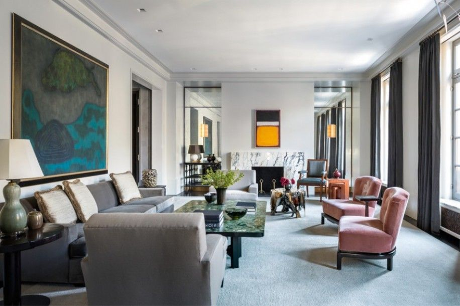 East 70th Street Apartment Living Room