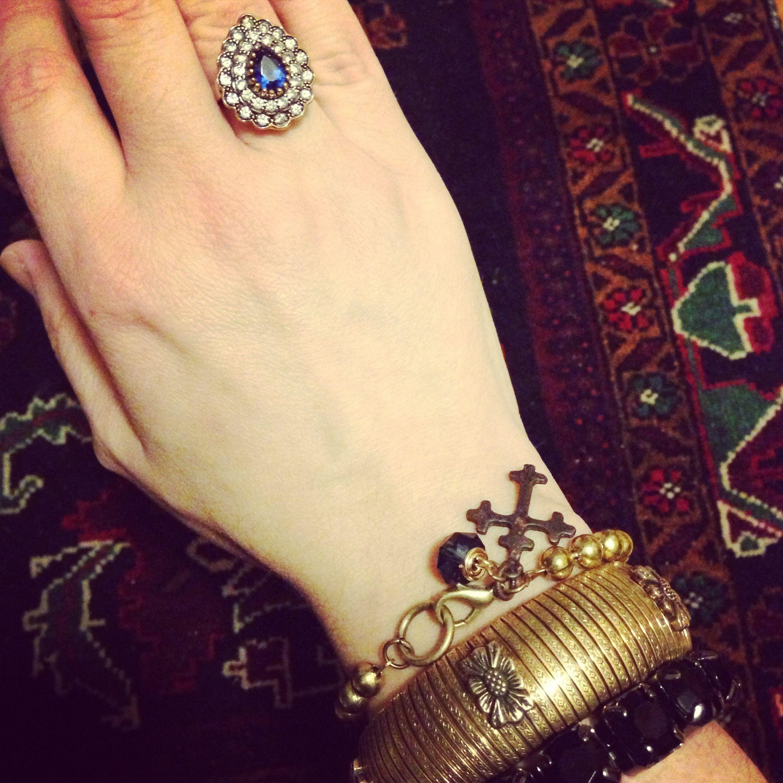 Litany Jewelry Designs brass cross bracelet vintage Stephen Dweck