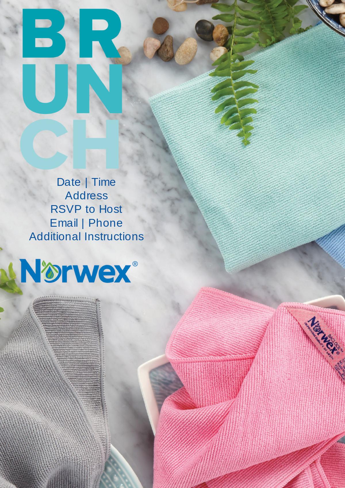 Norwex | Brunch Invite 2017 | Cards