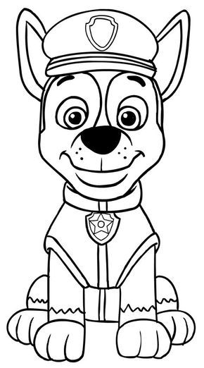 Paw patrol chase coloring pages