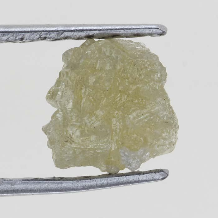 Untreated Natural Rough Loose Raw 0.63 Ct Light Yellow Color Diamond