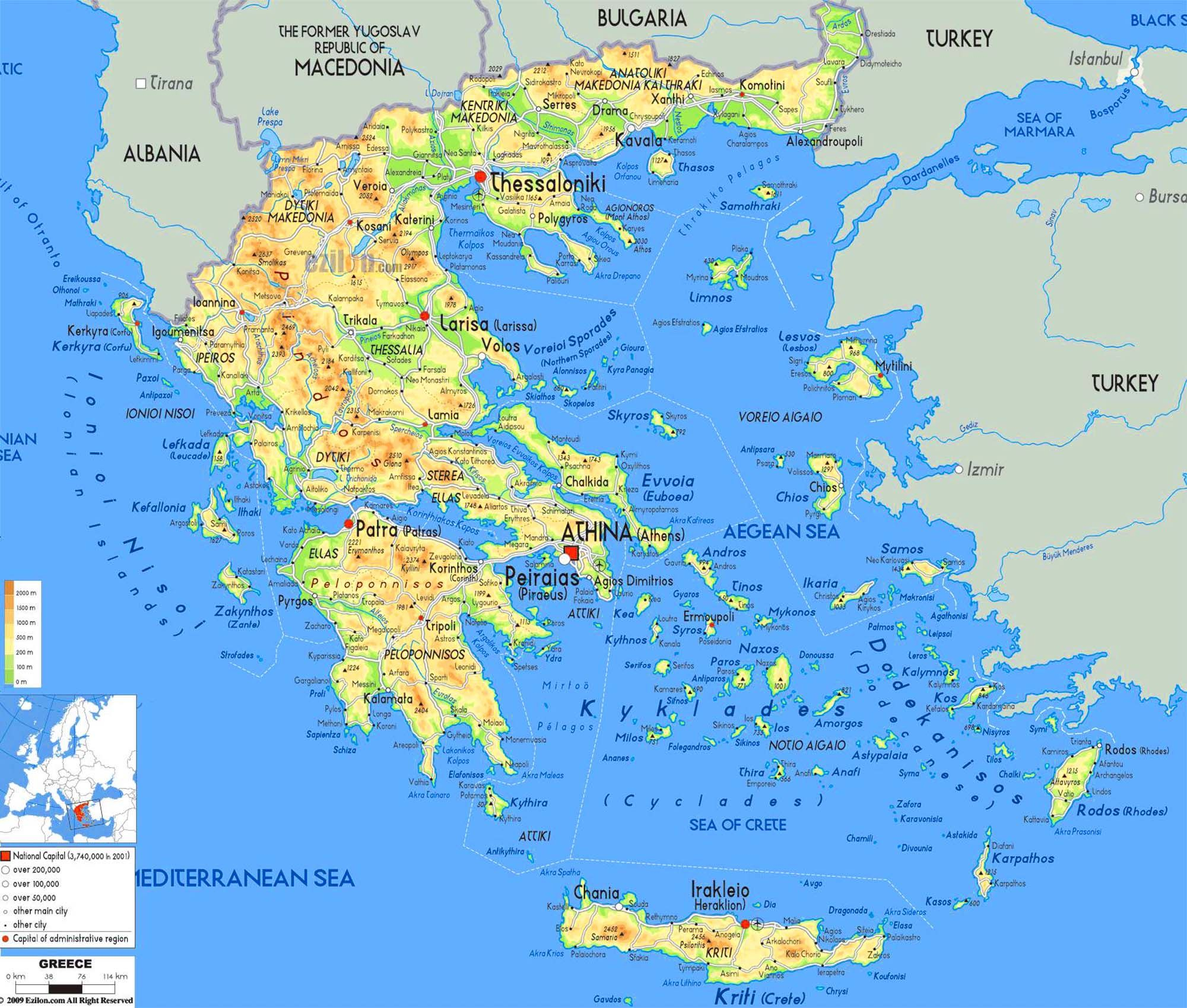 map of greek islands  Google Search  All Things Greece
