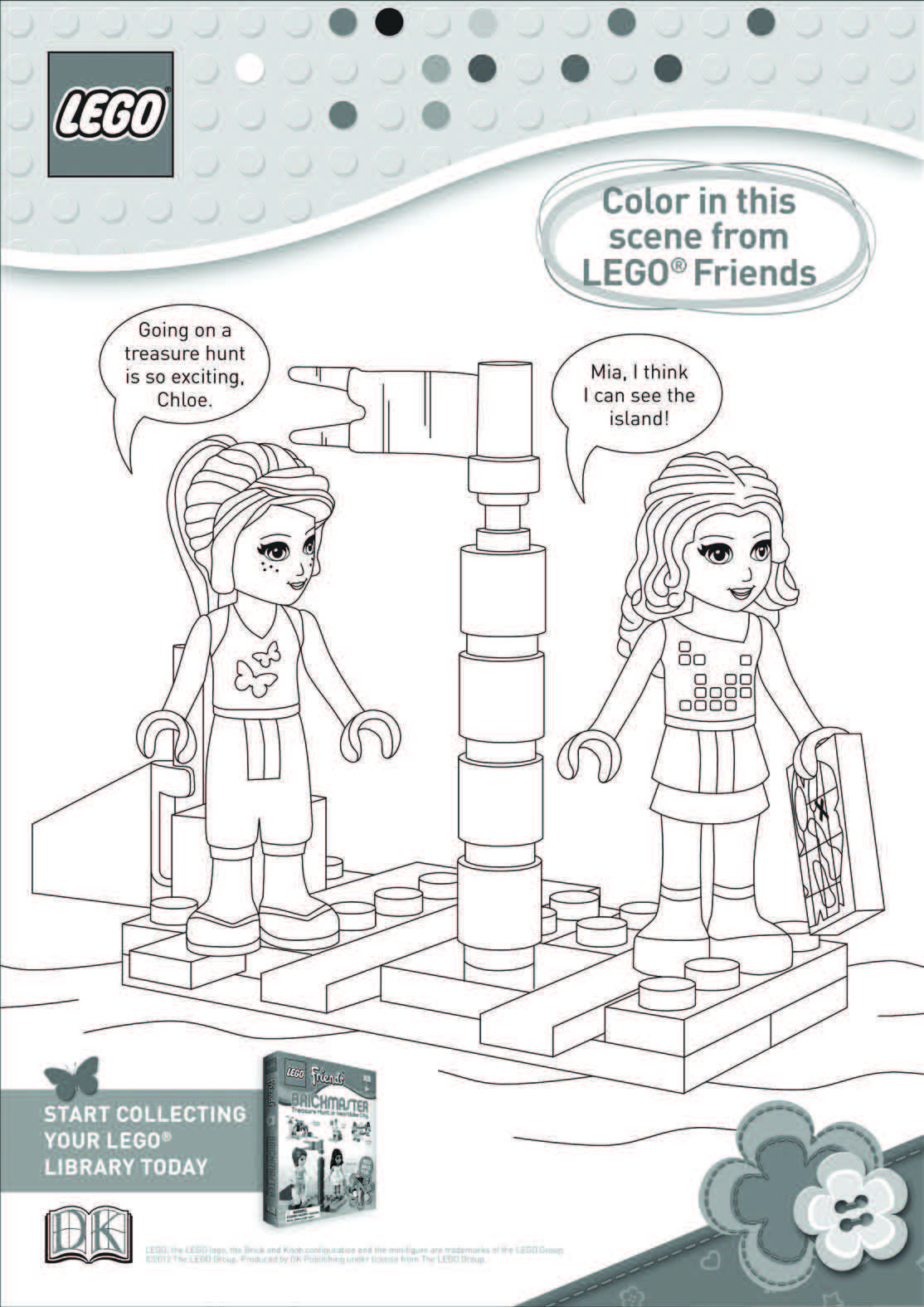 LEGO Friends coloring sheet | Lydia Lego Friends Bday | Pinterest ...