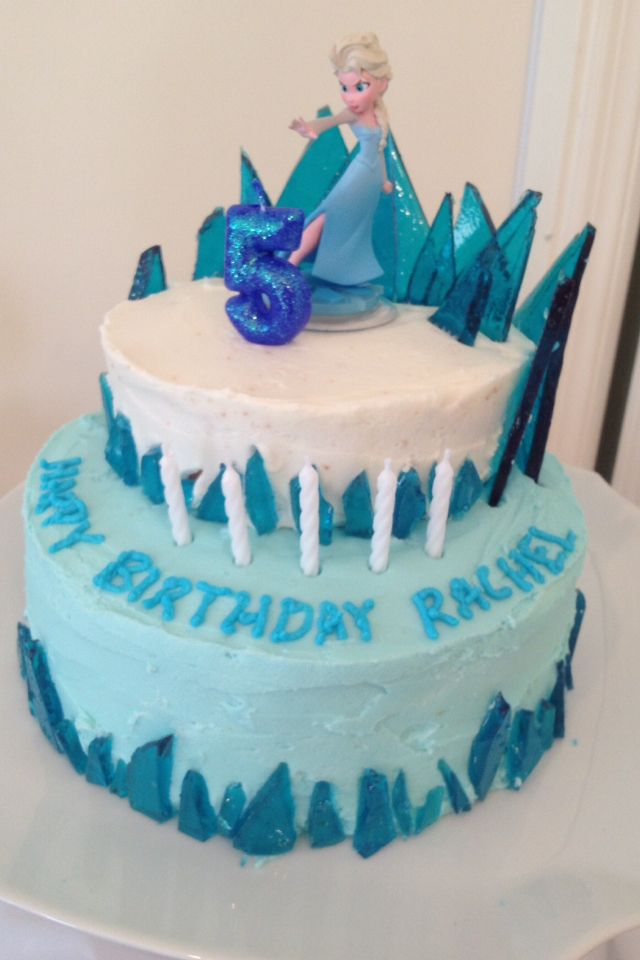 Frozen Cake Simple Design : Frozen cake- this one looks pretty easy. @Holly Hanshew ...