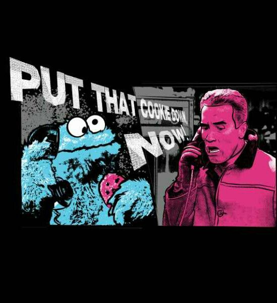 arnold schwarzenegger tells off the cookie monster the muppets