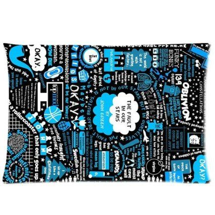 Funny The Fault in Our Stars John Green 2 Sides 20X30 Inch Zippered Soft Cotton Pillow Covers Decorative Cushion Covers: Amazon.ca: Home & Kitchen