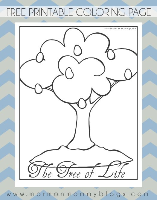 Mormon Mommy Printables Lehi S Tree Of Life Lds Coloring Page