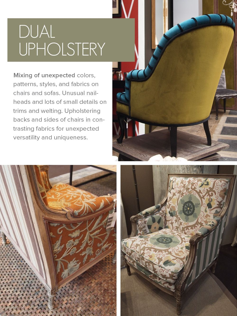 Dual Upholstery Fabrics Chairs Pinterest Upholstery Furniture