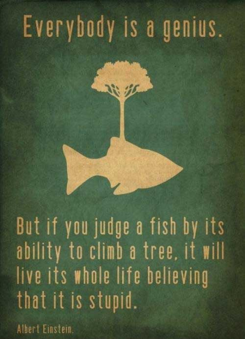 Fish can 39 t climb trees einstein albert einstein and for Fish in a tree