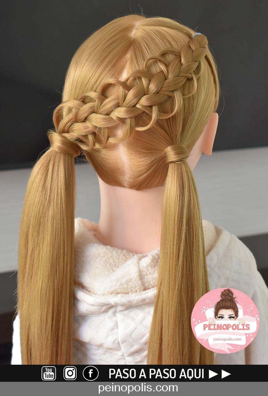 Coleta Con Trenza Para Niñas Peinados Fáciles Bonitos Y Rápidos Fashion