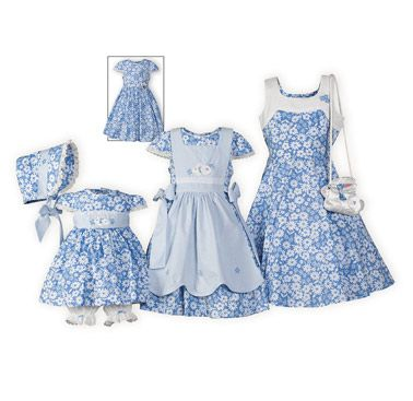 Sky Blossoms And Stripes Matching Easter Dresses The Wooden Solr Exclusive Adorable Sister In Blue Cotton With White Fl Print
